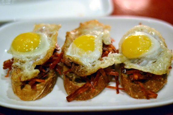 Txikito Chelsea - Pintxo of Chorizo, Sofrito and Egg | NY Food Journal